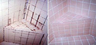 Tile and grout installation